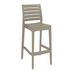 ARES BAR STOOL 75 TAUPE 750MM HIGH