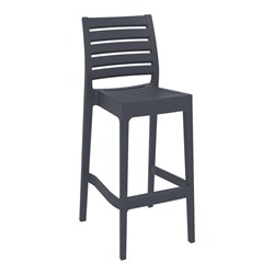 ARES BAR STOOL 75 ANTHRACITE 750MM HIGH