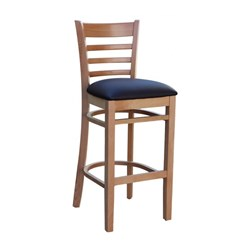 FLORENCE BARSTOOL NATURAL CHOCOLATE VINYL SEAT