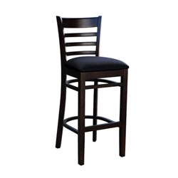 FLORENCE BARSTOOL CHOCOLATE BLK VINYL SEAT