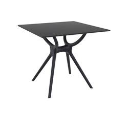 AIR TABLE 80 BLK TOP & BASE 800X800X740MM