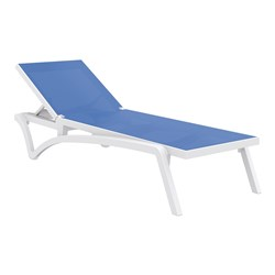 PACIFIC SUNLOUNGER WHT/BLUE