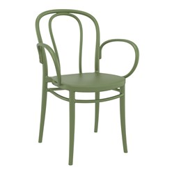 VICTOR XL CHAIR OLIVE GREEN