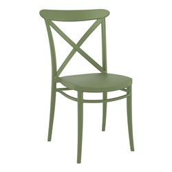 CROSS CHAIR OLIVE GREEN