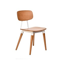 FELIX CHAIR PLY SEAT NATURAL WHT FRAME