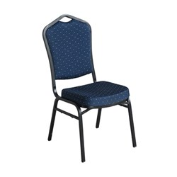 FUNCTION CHAIR BLUE FABRIC BLK FRAME