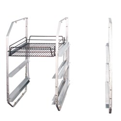 UNDER BAR RACK LEFT HAND ZINC PLATED STEEL 3 TIER