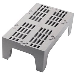DUNNAGE RACK SLOTTED 1360KG SPECKLED GREY 533X1220X300MM