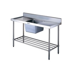 SINK BENCH WSINK/- SPLASH BACK 600X600X900MM