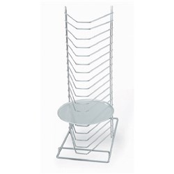 PIZZA TRAY RACK 18 SLOT CHROME BENCH MODEL (2)