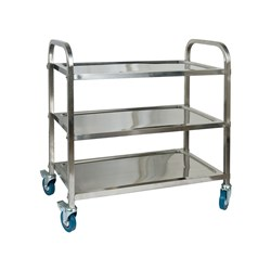 TROLLEY 3 TIER S/S XHD SQUARE TUBE 950X550X940MM
