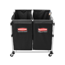 X-CART COLLAPSIBLE 2X150LT S/S W/- 2 DETACHABLE BLK BAGS
