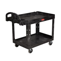 UTILITY TROLLEY 2 TIER H/DUTY 1149X657X845MM 227KG BLK