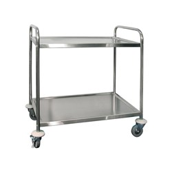 TROLLEY 2 TIER 860X535X930MM S/S
