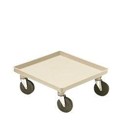 GLASS BASKET DOLLY 525X525MM NO HDL PLASTIC