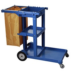 RDG JANITOR CART BLUE W/- BAG
