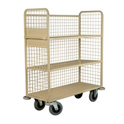 LINEN TROLLEY W/- MESH BACK & SIDES 1200X500X1500MM