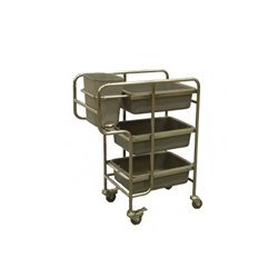 SERVICE TROLLEY 4 TUB 750X450X990MM