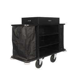 SERVICE TROLLEY MAIDS CART BLK