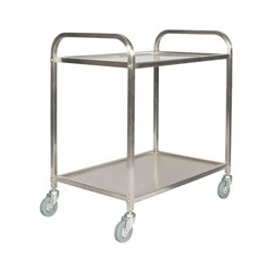 TROLLEY 2 TIER MED H/DUTY S/S WELDED 860X535X930MM