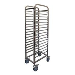 GASTRONORM TROLLEY 17 TIER 1/1 S/S I/LOCKS 410X565X1700MM