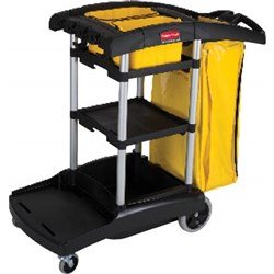 CLEANERS CART HIGH CAPACITY BLK