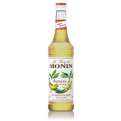 MONIN SYRUP BANANA 700ML GLASS (6)