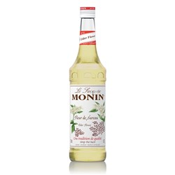 MONIN SYRUP ELDER FLOWER 700ML GLASS (6)