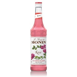 MONIN SYRUP ROSE 700ML GLASS (6)