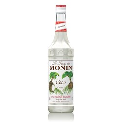 MONIN SYRUP COCONUT 700ML GLASS (6)
