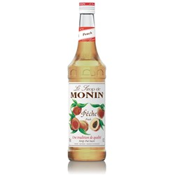 MONIN SYRUP PEACH 700ML GLASS (6)