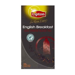 TEA BAGS ENGLISH BREAKFAST LIPTON 25/PKT (6)