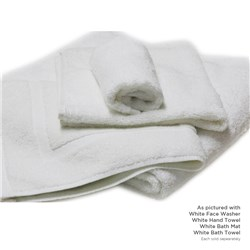 ESSENTIAL BATH TOWEL WHT 700X1400MM 450GSM (40)