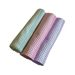 TEA TOWEL JUMBO RED CHECK DOZ COTTON 600X900MM