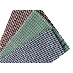 TEA TOWEL SML GREEN CHECK DOZ COTTON 450X700MM