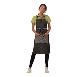 BIB APRON INDIGO BLUE DENIM W/- ZIPPER MANHATTAN 86X76CM