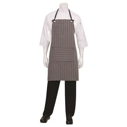 BIB APRON BROOKLYN CHARCOAL GREY 87X76CM