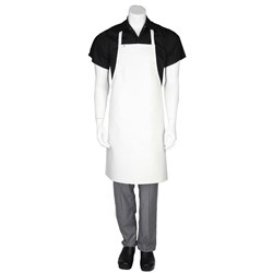 BIB APRON PVC WHT 680X890MM SHORT