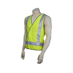 HIGH VISIBILITY VEST W/REFLECT 2XLARGE VELCRO CLOSURES