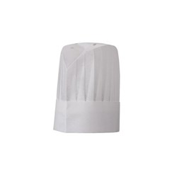 CHEF HAT DISPOSABLE WHT 30CM PLEATED POLY VISCOSE LE TOQUE