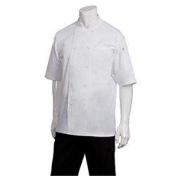 CHEF JACKET MONTREAL WHT COOL VENT S/SLEEVE MED