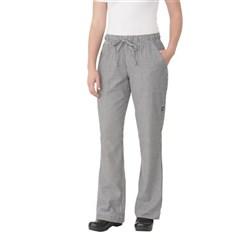 CHEF PANTS LADIES D/STRING P/C SML CHECK MED