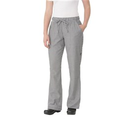 CHEF PANTS LADIES D/STRING P/C SML CHECK LGE