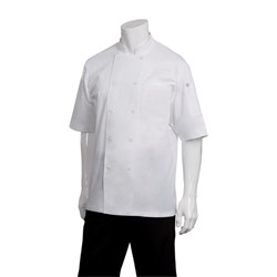 CHEF JACKET MONTREAL WHT COOL VENT S/SLEEVE XL