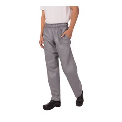 CHEF PANTS D/STRING P/C TRAD CHECK BAGGY SML