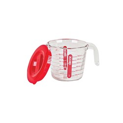 MEASURING JUG 650ML GLASS ML & CUP GRADUATIONS W/ LID