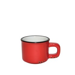 BISTROT ESPRESSO CUP RED BLK RIM 75ML (6/72)