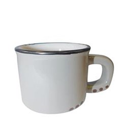 BISTROT MUG GREY BLK RIM 250ML (6/48)