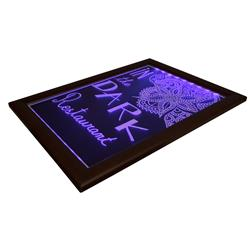 LED SML CHALK BOARD COL. W/- CHALKMARKER & REMOTE 400X500MM