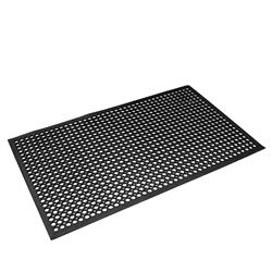 SAFETY MAT BLK RUBBER NON SLIP 900X1500MM